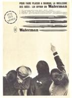 "PUB STYLO Et STYLO PLUMES "" WATERMAN  ""  1963 ( 26 ) - Pens"