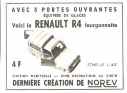 "PUB RENAULT 4 FOURGONETTE  "" NOREV ""  1963 ( 1 ) - Autres Collections"