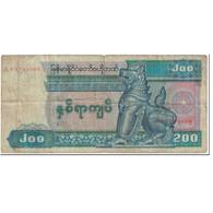 Billet, Myanmar, 200 Kyats, 1991-1998, Undated (1991-1998), KM:75b, B - Myanmar