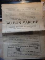 Journal De Bruxelles Exposition Du 3 Août 1910 - Voir 12 Scans - Mostre Universali