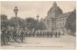 STRASBOURG - 14 Juillet 1919, Défilé Des Chasseurs Cyclistes - Strasbourg