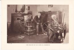 Grande Photo (Phototypie, Héliogravure) - F.M. 102 /  UNE FILEUSE DE LIN DANS LE CAMBRESIS - Cliché R. DELAME - Photos