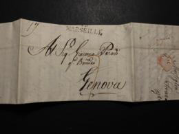 Frankreich Vorphila Faltbrief Von Marseillle L 2 + Viel Inhalt 1817 Nach Genf/Schweiz - Unclassified