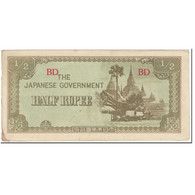 Billet, Birmanie, 1/2 Rupee, 1942, Undated (1942), KM:13b, TB - Myanmar
