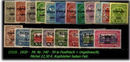 Österreich -  Mi. Nr. 340 - 59  -  In Postfrisch - 1850-1918 Imperium