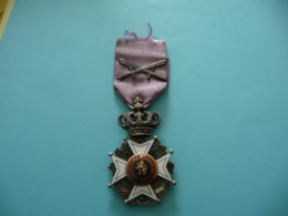Ordre De Léopold à Titre Militaire Avec Glaives 1914 1918 - Belgique