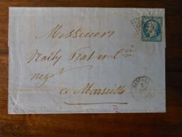 Lettre GC 5042 Mascara - 1849-1876: Période Classique