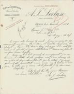 SAUMUR A F LECLUSE VINS DE CHAMPAGNE VINSEN CERDES CHATEAU DE TERREFORT ANCIENNE MAISON AMIOT LECLUSE ANNEE 1885 - Frankreich