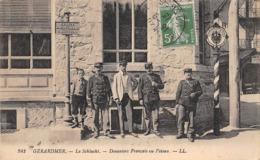 Thème:    Métier. Douanier. Frontière Franco Allemande.Col De La Schlucht  Gendarmes Français Et Allemands 4 (Voir Scan) - Police - Gendarmerie