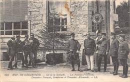 Thème:    Métier. Douanier. Frontière Franco Allemande.Col De La Schlucht  Gendarmes Français Et Allemands 5 (Voir Scan) - Police - Gendarmerie