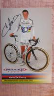 Mario De Clercq Werelkampioen Champion Du Monde Cyclo Cross 2002 Palmans Collstrop Signée - Radsport