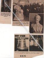KAPELLE-OP-DEN-BOSCH 1935 JAN PETTENS 64 JAAR BRIEVENBESTELLER/ SCHILDER LAROCK HERDACHT/WIJDING NIEUWE KLOKKEN - Oude Documenten