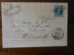 Lettre GC 5015 Bone Avec Correspondance - 1849-1876: Période Classique
