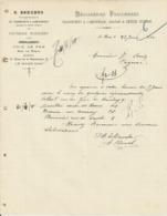 LE MANS E BEUCHER TRANSPORT GRANDE PETITE VITESSE CAMIONNAGE FACTEURS PARISIENS VOIE DE FER MISE EN WAGON ANNEE 1910 - Frankreich