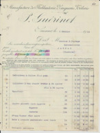 SAUMUR GUERINET MANUFACTURE DE FERBLANTERIE ZINGUERIE TOLERIE FACTURES CAFETIERES RECHAUDS CHAUFFERETTES ANNEE 1914 - Frankreich