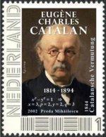 CATALAN, E.C. - Belgian Mathematician - Catalan Conjecture, Preda Mihăilescu - Mathematics - Individual Stamp - Ohne Zuordnung