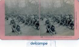 Photo Stéréoscopique -  Guerre Amérique - Philippines 1899 -  Volunteers Taking A Rest , Lawton 's Expidition - Fotos Estereoscópicas