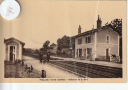 19 - Carte Postale Ancienne De MAUSSAC  GARE  Intérieur De La Gare - Francia