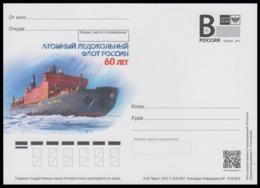 "RUSSIA 2019 ENTIER POSTCARD 256/1 NUCLEAR ICEBREAKER ""50 YEARS VICTORY"" BRISE-GLACE EISBRECHER ATOM ARCTIC ATOMIQUE NORD - Navi Polari E Rompighiaccio"