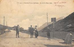 Thème:    Métier. Douanier. Frontière Franco Italienne Col Du Mont Cenis Gendarmes Et Douaniers  (Voir Scan) - Police - Gendarmerie