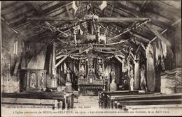 Cp Ménil Sur Belvitte Vosges, Église Provisoire - Frankrijk