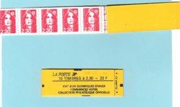 MARIANNE DE BRIAT - 2,30F Rouge- Carnet YT 2614 C7a -  Daté 1 Er MAI  - ERREUR DE DATE - Definitives