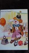 CPM VIVE LE CIRQUE  CLOWN EQUILIBRISTE CHIEN  BALLON SERIE 5556 4/4 - Circus