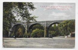 (RECTO / VERSO) PHILADELPHIA - P. & R. R. R. BRIGDE AND WISSAHICKON DRIVE - VIEILLE VOITURE - CPA  NON VOYAGEE - Philadelphia