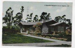 (RECTO / VERSO) LOS ANGELES EN 1914 - A BEAUTIFUL BUNGALOW - PLI ANGLE HAUT A DROITE - CPA VOYAGEE - Los Angeles