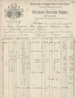 ANGERS DELAHAYE BOUGERE CHANVRES LINS MANUFACTURE DE CORDAGES FICELLES LICOLS SANGLES ANNEE 1896 - Frankreich