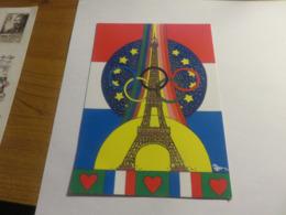 Carte Jeux Olympiques Paris 2024 1000° Carte Illustrée Par Patrick HAMM - France