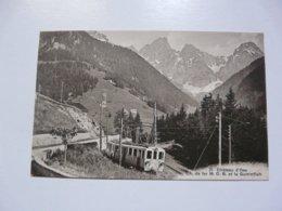 CPA SUISSE - CHATEAU D'OEX : Chemin De Fer M. O. B. Et Le Gummfluh - VS Wallis