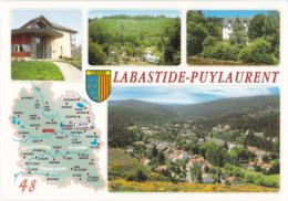 CPM 48 ,Labastide-Puylaurent, Multivues Cellard Z 790511,  Non écrite - Maps