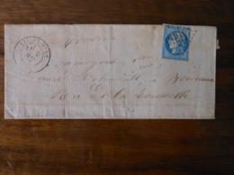 Lettre GC 4665 Lit Et Mix Landes Avec Correspondance - Poststempel (Briefe)