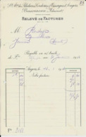ANGERS BESSONNEAU FILATURES CORDERIES TISSAGES RELEVEE DE FACTURES ANNEE 1914 - Frankreich