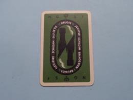 N G S F Brugge Bruges ( Klaveren 8 ) ( Details - Zie Foto's Voor En Achter ) ! - Speelkaarten