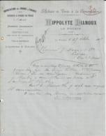 LE POUZIN HIPPOLYTE DIANOUX IMPORTATION DES GRAINES FARINES MARRONS POMMES DE TERRES VINS LIQUEURS SIROPS ANNEE 1887 - Frankreich