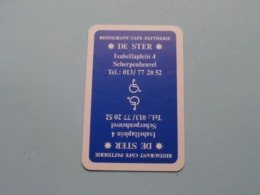 DE STER Restaurant SCHERPENHEUVEL ( Klaveren 10 ) ( Details - Zie Foto's Voor En Achter ) ! - Speelkaarten
