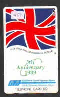 Télécarte Japon * ANGLETERRE * ENGLAND *  (451) GREAT BRITAIN RELATED * Phonecard Japan - Cultura