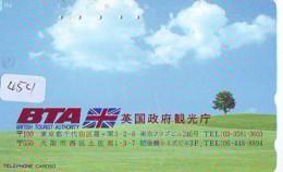 Télécarte Japon * ANGLETERRE * ENGLAND *  (454) GREAT BRITAIN RELATED * Phonecard Japan - Cultura