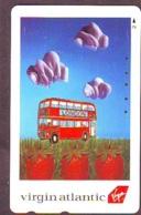 Télécarte Japon * ANGLETERRE * ENGLAND * VIRGIN ATLANTIC *  (457) GREAT BRITAIN RELATED * Phonecard Japan - Airplanes