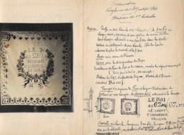 """Bannière """"le Roi 67.mE Régiment D'infanterie De Ligne"""" étude + 2 Photos  Voir Scans     Port France 1.80€ - Documents Historiques"""