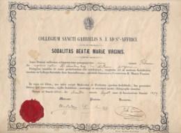 Collège Saint Gabriel  Sainte Affrique  1859  Document En Latin     Voir Signatures - Vieux Papiers