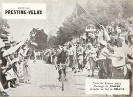 Photo Tour De France Cycliste 1933 Passage De Truera Au Col De Braus - Ciclismo