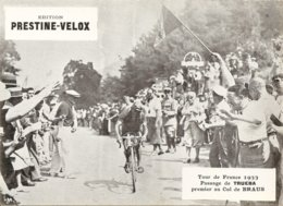 Photo Tour De France Cycliste 1933 Passage De Truera Au Col De Braus - Cycling