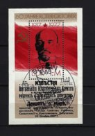 DDR - Block Nr. 50 - 60. Jahrestag Oktoberrevolution In Russland Gestempelt BERLIN (2) - Blocks & Kleinbögen