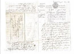 Colonel Philppe Higonet  1782-1869  Longue Lettre 1817 (nommé Colonel Par DAVOUT En 1814) Blessé à Waterloo - Autographes