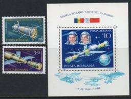 Romania 1981 Scott C240-C242 MNH Air Mail, Space - Ungebraucht