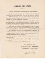 Ordre Du Jour 9 Février 1945 Général BETHOUART Mulhouse Strasbourg Alsace 1er Corps D'Armée Voir La Description - 1939-45