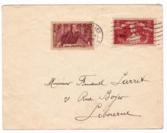 Lettre 1939 Versailles Yvelines Timbre Jean Jaurès 40 Centimes Libourne Gironde - France